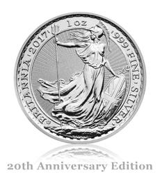2017 Britannia Anniversary 1 oz Silver Bullion Coin