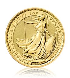 2017 Britannia 1 oz Gold Bullion Coin