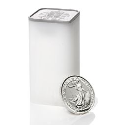 2017 Britannia 1 oz Silver Bullion 25 Coin Tube