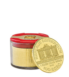 Austrian Philharmonic 2018 1 oz Gold Ten Coin Tube