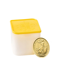 2015 Britannia 1 oz Gold Bullion 10 Coin Tube