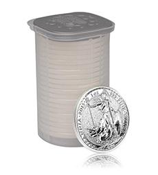 2015 Britannia 1 oz Silver Bullion 25 Coin Tube