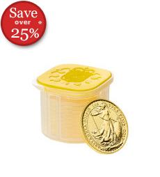 2016 Britannia 1 oz Gold Bullion 10 Coin Tube