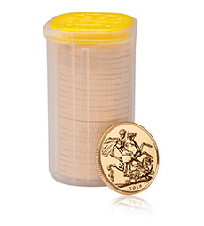 The Sovereign 2015 Gold Bullion 25 Coin Tube