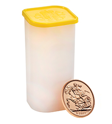 The Sovereign 2017 Gold Bullion 25 Coin Tube