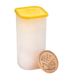 The Sovereign 2018 Gold Bullion 25 Coin Tube