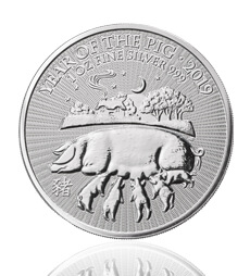 Lunar 2019 Year of the Pig 1 oz Silver Coin