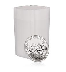 Lunar Year of the Sheep 2015 UK 1 oz Silver Bullion 20 Coin Tube