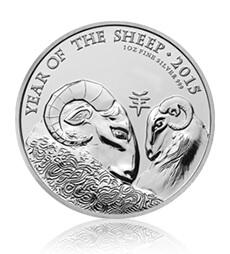 Lunar Year of the Sheep 2015 UK 1 oz Silver Bullion Coin