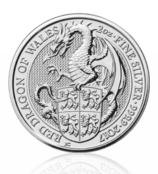 The Queen's Beasts 2017 – The Dragon - 2 oz Silver Bullion Coin