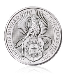 The Queen's Beasts 2017 – The Griffin - 2 oz Silver Bullion Coin