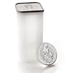 The Queen's Beasts 2018 – Black Bull – 2 oz Silver Bullion Ten Coin Tube