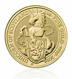 The Queen's Beasts 2018 The Unicorn 1 oz Gold Coin