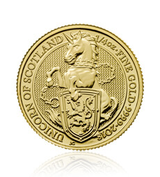 The Queen's Beasts 2018 The Unicorn 1/4 oz Gold Coin