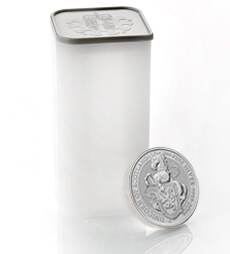 The Queen's Beasts 2018 – The Unicorn - 2 oz Silver Bullion Ten Coin Tube