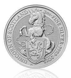 The Queen's Beasts 2018 – The Unicorn – 2 oz Silver Bullion Coin
