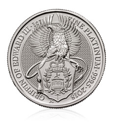 The Queen's Beasts 2018 – The Griffin – 1 oz Platinum Bullion Coin