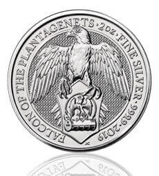 The Queen's Beasts 2019 Falcon 2 oz Silver Coin