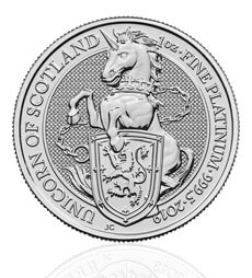 The Queen's Beasts 2019 Unicorn 1 oz Platinum Coin