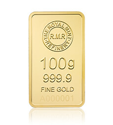 100 g Gold Bar Minted