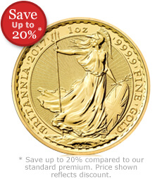 2017 Britannia 1 oz Gold Bullion Coin
