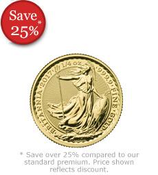 2017 Britannia 1/4 oz Gold Bullion Coin