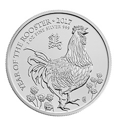 Lunar 2017 Year of the Rooster 1 oz Silver Coin