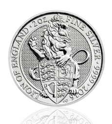 The Queen's Beasts 2016 – The Lion - 2 oz Silver Bullion Coin