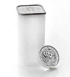 The Queen's Beasts 2016 – The Lion - 2 oz Silver Bullion Ten Coin Tube