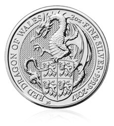 The Queen's Beasts 2017 – The Dragon - 2 oz Silver Bullion Ten Coin Tube