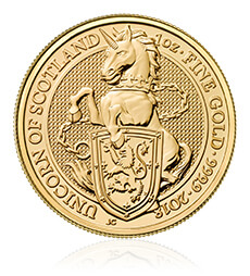 The Queen's Beasts 2018 – The Unicorn - 1 oz Gold Bullion Ten Coin Tube