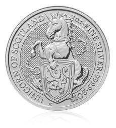 The Queen's Beasts 2018 – The Unicorn - 2 oz Silver Bullion Ten Coin Tube